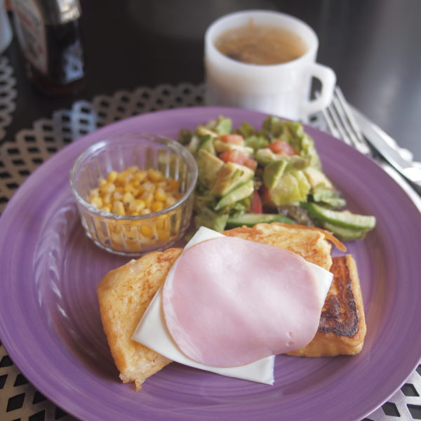 ハムチーズフレンチトースト 朝ごはん