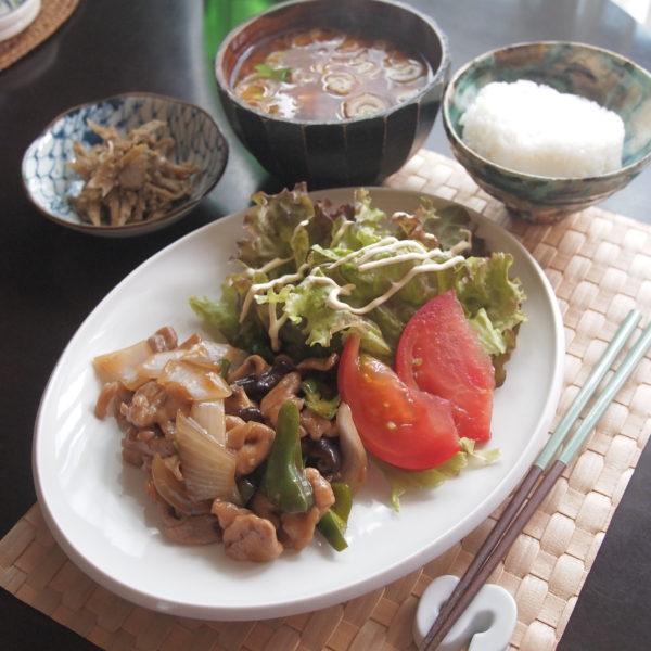 鶏肉の甘酢炒め朝ごはん