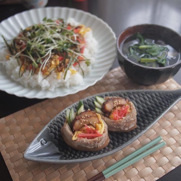 いなり寿司ちらし寿司昼ごはん