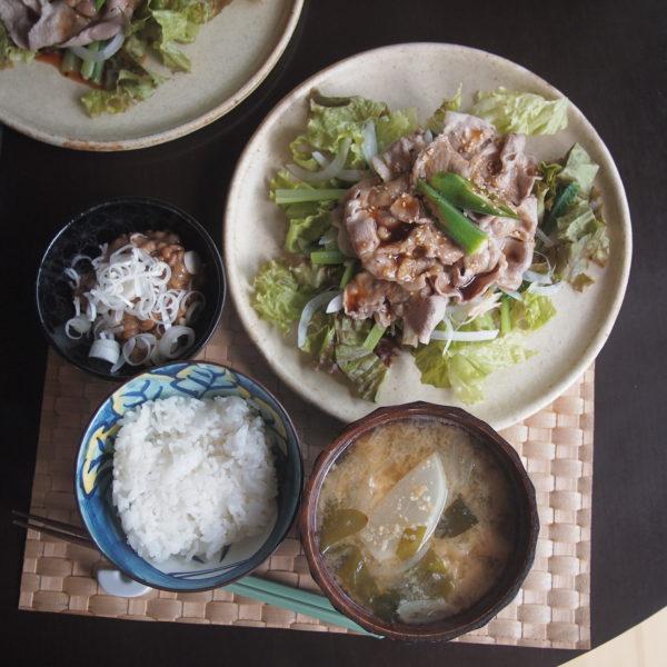 豚しゃぶサラダの昼ごはん